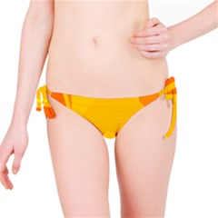 Orange abstract design Bikini Bottom