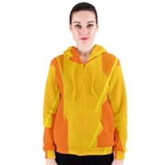 Orange abstract design Women s Zipper Hoodie