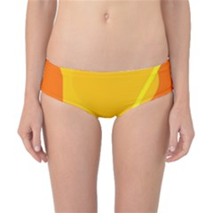 Orange abstract design Classic Bikini Bottoms