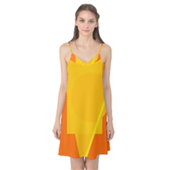 Orange abstract design Camis Nightgown