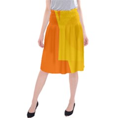 Orange abstract design Midi Beach Skirt