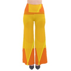 Orange Abstract Design Pants