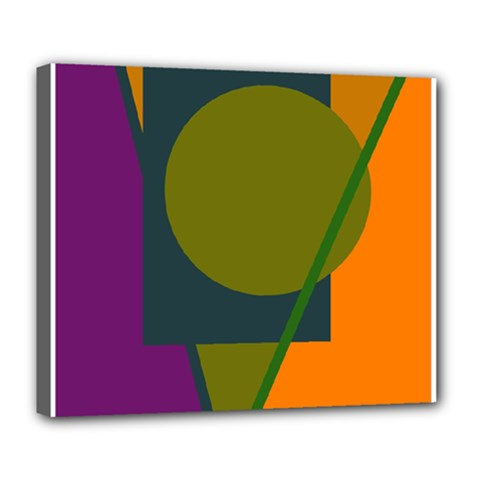 Geometric abstraction Deluxe Canvas 24  x 20