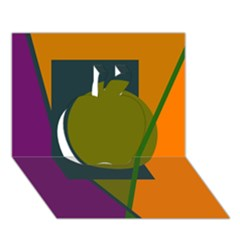 Geometric abstraction Apple 3D Greeting Card (7x5)