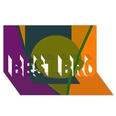 Geometric abstraction BEST BRO 3D Greeting Card (8x4)