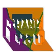 Geometric abstraction THANK YOU 3D Greeting Card (7x5)