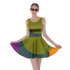 Geometric abstraction Skater Dress
