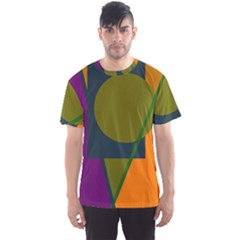 Geometric abstraction Men s Sport Mesh Tee