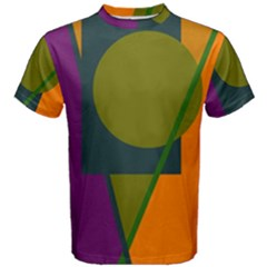 Geometric Abstraction Men s Cotton Tee
