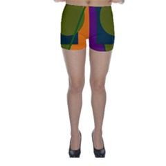 Geometric abstraction Skinny Shorts