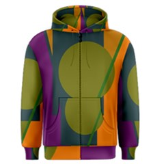 Geometric abstraction Men s Zipper Hoodie