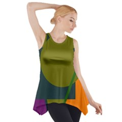 Geometric abstraction Side Drop Tank Tunic