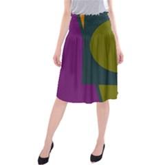 Geometric Abstraction Midi Beach Skirt