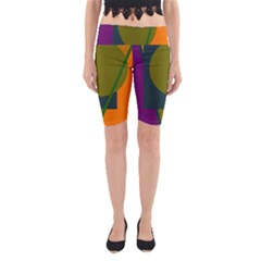Geometric abstraction Yoga Cropped Leggings