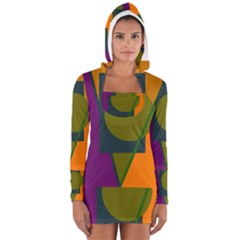 Geometric abstraction Women s Long Sleeve Hooded T-shirt