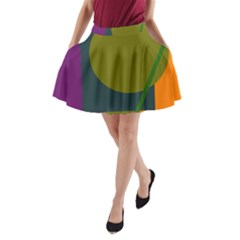 Geometric abstraction A-Line Pocket Skirt