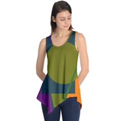 Geometric abstraction Sleeveless Tunic