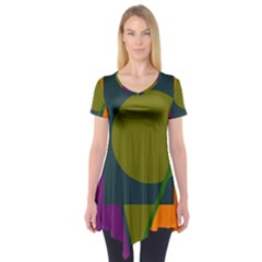 Geometric abstraction Short Sleeve Tunic