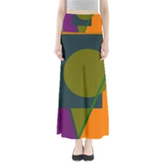 Geometric abstraction Maxi Skirts