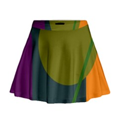 Geometric abstraction Mini Flare Skirt