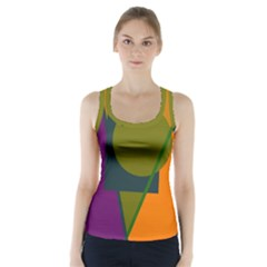 Geometric abstraction Racer Back Sports Top