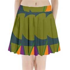 Geometric Abstraction Pleated Mini Mesh Skirt