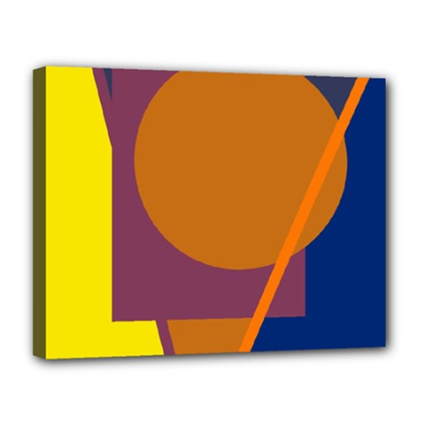 Geometric abstract desing Canvas 14  x 11