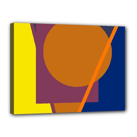 Geometric abstract desing Canvas 16  x 12