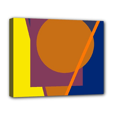 Geometric abstract desing Deluxe Canvas 20  x 16
