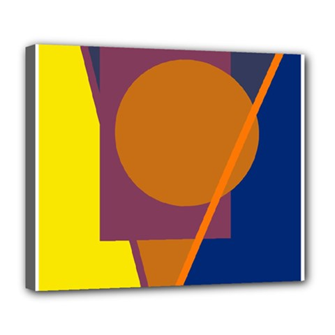 Geometric abstract desing Deluxe Canvas 24  x 20