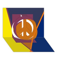 Geometric abstract desing Peace Sign 3D Greeting Card (7x5)