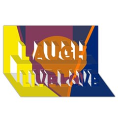 Geometric abstract desing Laugh Live Love 3D Greeting Card (8x4)
