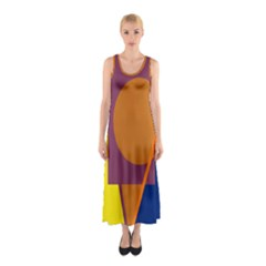 Geometric abstract desing Sleeveless Maxi Dress