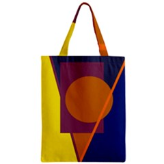 Geometric abstract desing Zipper Classic Tote Bag