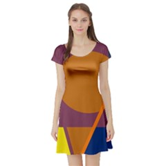 Geometric abstract desing Short Sleeve Skater Dress