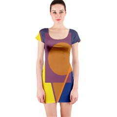 Geometric abstract desing Short Sleeve Bodycon Dress