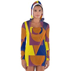 Geometric abstract desing Women s Long Sleeve Hooded T-shirt