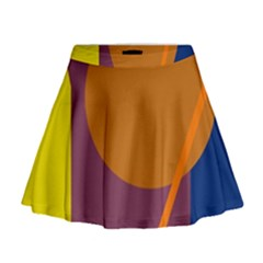 Geometric abstract desing Mini Flare Skirt