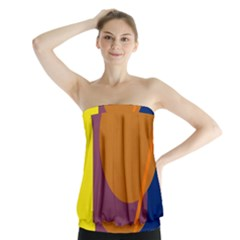 Geometric abstract desing Strapless Top
