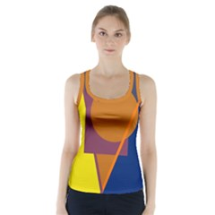 Geometric abstract desing Racer Back Sports Top