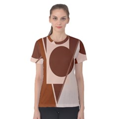 Brown geometric design Women s Cotton Tee