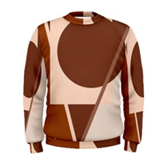 Brown geometric design Men s Sweatshirt