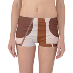 Brown geometric design Reversible Boyleg Bikini Bottoms