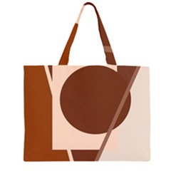 Brown geometric design Large Tote Bag