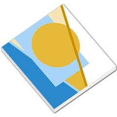 Blue and yellow abstract design Small Memo Pads