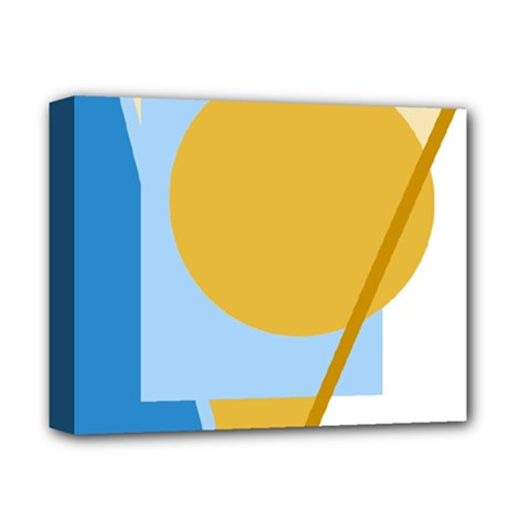Blue and yellow abstract design Deluxe Canvas 14  x 11