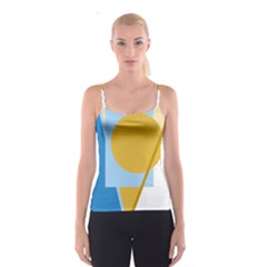 Blue and yellow abstract design Spaghetti Strap Top