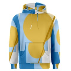 Blue and yellow abstract design Men s Pullover Hoodie