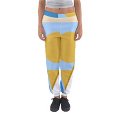 Blue and yellow abstract design Women s Jogger Sweatpants