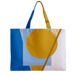 Blue and yellow abstract design Zipper Mini Tote Bag